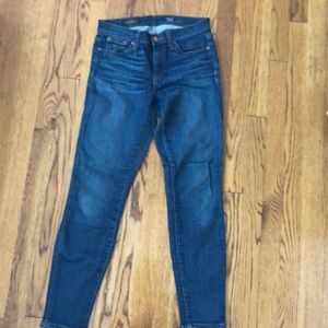 Jcrew toothpick ankle skinny jeans mid rise